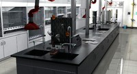 3d laboratory lab model