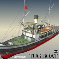 3ds older time tug boat