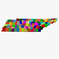 3d model counties tennessee