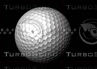 golf ball resolution 3d obj