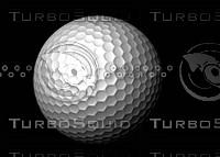 golf ball resolution 3d obj