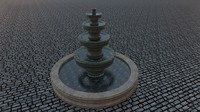 3d model fountain concrete water