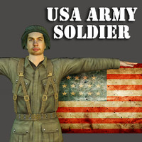 human usa army soldier 3d max