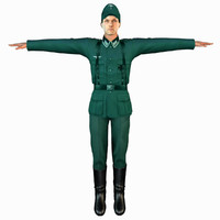 3ds military male soldier