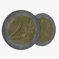 3d model 2 euro coin germany