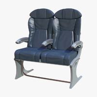 3d model business class airplane seat