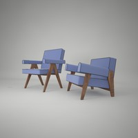 3d model pierre jeanneret arm chair