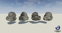 ready rock 3d obj