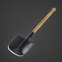 3d model of military soviet shovel