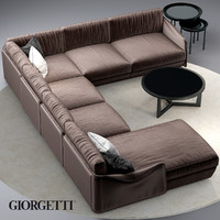 3d model sofa giorgetti fabula