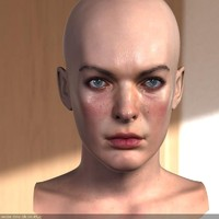 milla jovovich head female 3d max