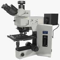 3d professional fluorescence microscope generic model