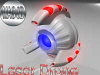 laser drone 3ds