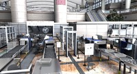 3d model of airport security checkpoint