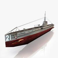 u 21 submarine 3d max