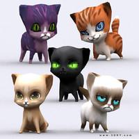 chibii - cat 3d 3ds