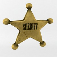 3d sheriff star model