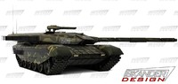 3d russian battle futuristic tank model
