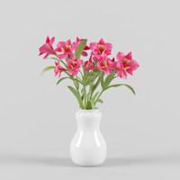 alstromeria vase 3d model