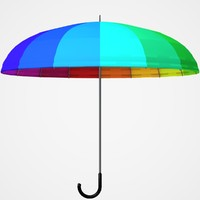 3d model umbrella colorful
