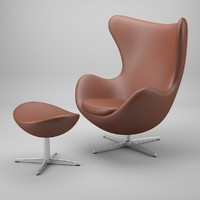 egg chair arne jacobsen 3d 3ds