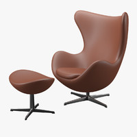 3d model egg chair arne jacobsen
