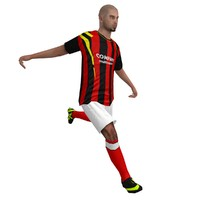 3d rigged soccer player 1 model