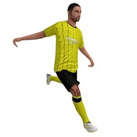 rigged soccer player 3d x