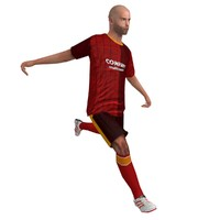 3ds max rigged soccer player