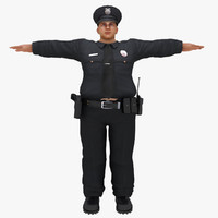 3d model of fat police