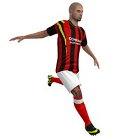 3d model rigged soccer player 1