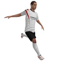 3d rigged soccer player 2