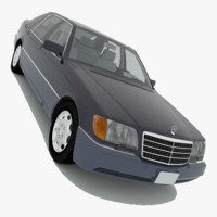 mercedes-benz 600sel v140 1991 3d 3ds