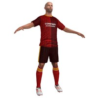 soccer player 3d max