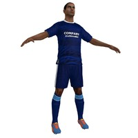 3d max soccer player 6