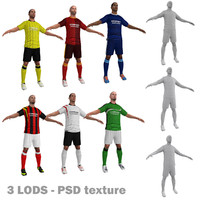 3d max pack soccer player