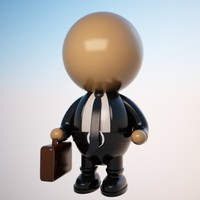 maya cartoon businessman character