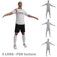 3ds max soccer player 2