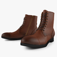 3d model leather work boot