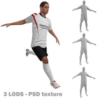 3d rigged soccer players 2 model