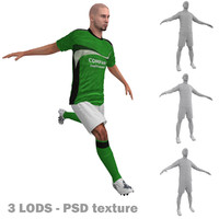 rigged soccer players 3 3d max