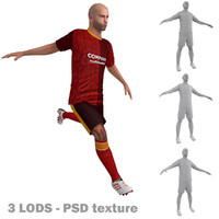 rigged soccer players 3d model