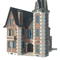 3d old style house model