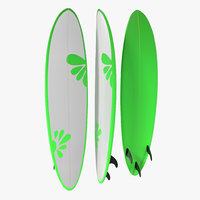 3d model of surfboard funboard 4