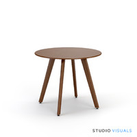 3ds max aurelle walnut dining