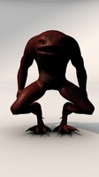 3d toad demon model