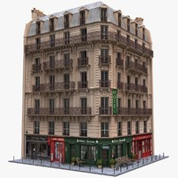 france tenement corner 3d fbx