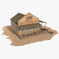 wild west blacksmith 3d obj