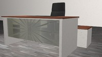 3d office desk