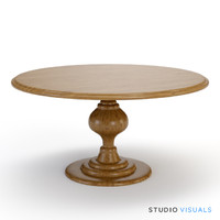 3d pedestal table model